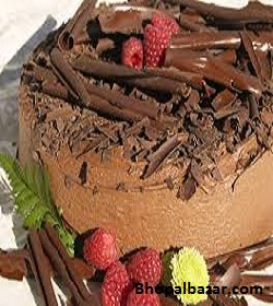 Crunchy Choco-Chips Chocolate Fudge Cake