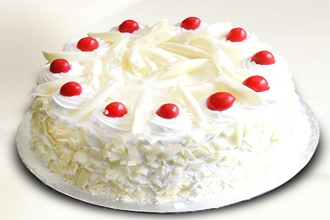 One kg White Forest Cake