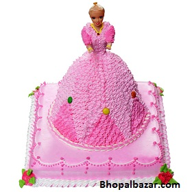 Barbie Design Cake 3 5 Kg Bhopalbazar